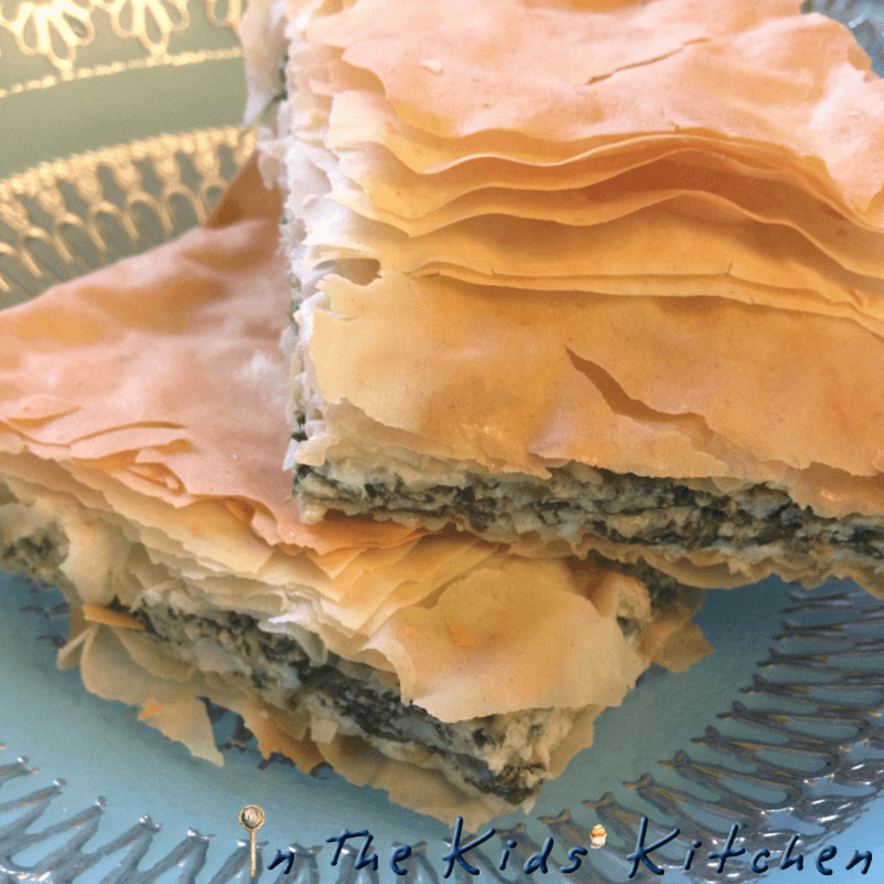 Spanakopita: Spinach Feta Pie In the Kids' Kitchen