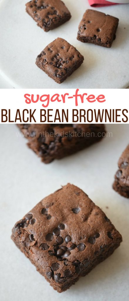 These sugar free black bean brownies are crumbly, fudgy, and all of the good things that brownies should be - without the sugar!