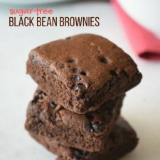 Healthy Black Bean Brownies (Sugar free, flourless)