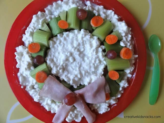 christmas wreath snack idea