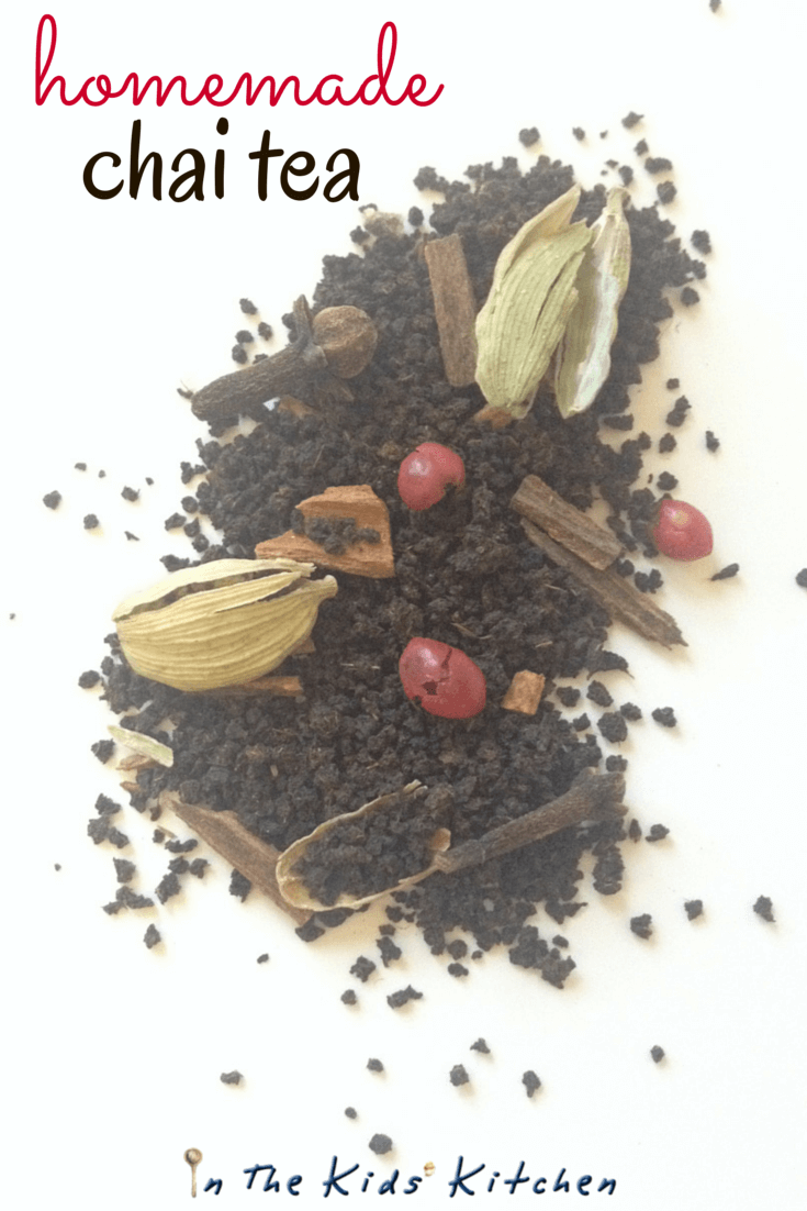 homemade chai tea recipe - great gift idea for tea lover. A homemade tea mix with a bit of spice, perfect for cold weather