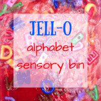 Jello Alphabet Sensory Bin