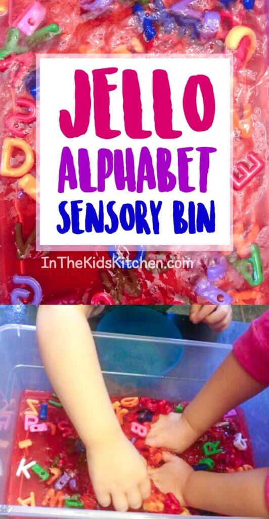 Learn the ABC's and have some good ol' squishy fun with this easy Alphabet Jello Sensory Bin!