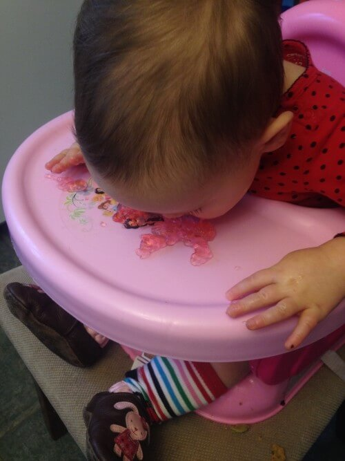 Alphabet Jell-o sensory play - edible for toddlers!