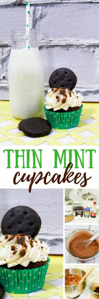 Everyone's favorite Girl Scout cookie...in a cupcake! Thin Mint Cupcakes are a bite of nostalgia, and full of rich chocolate and mint flavor.