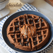 Chocolate Caramel Waffles