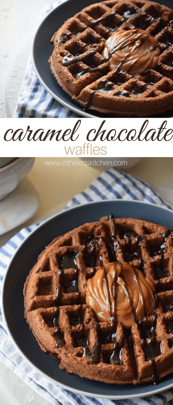 A delicious brunch recipe to start your special day with a bit of indulgence - Caramel Chocolate Waffles that take less than five minutes to whip together