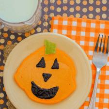 Jack O'Lantern Halloween Pancakes