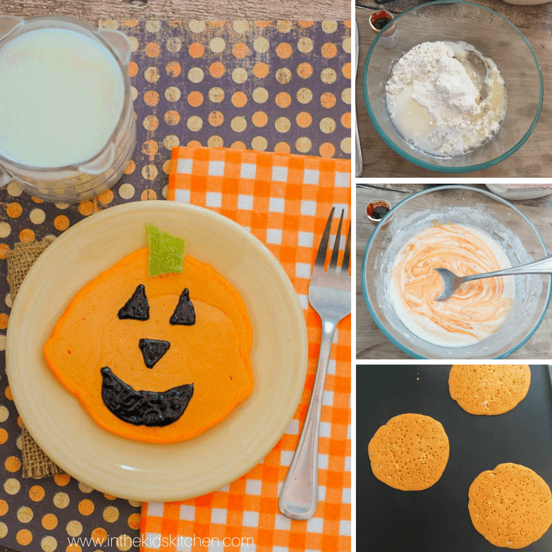 How to make Jack O'Lantern Pancakes for a special Halloween breakfast