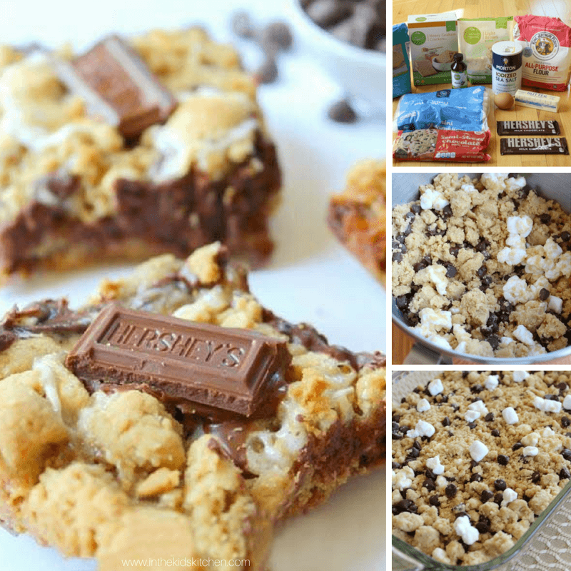 Ooey-Gooey melt-in-your-mouth S'mores Cookie Bars will be your new favorite treat! A perfect party dessert: easy to make & a chocolate-filled crowd pleaser!