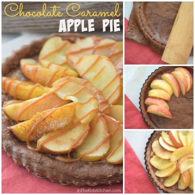 Layers of Fall flavors will delight your taste buds! The name says it all: Chocolate Caramel Apple Pie - easy dessert recipe perfect to bake with kids!