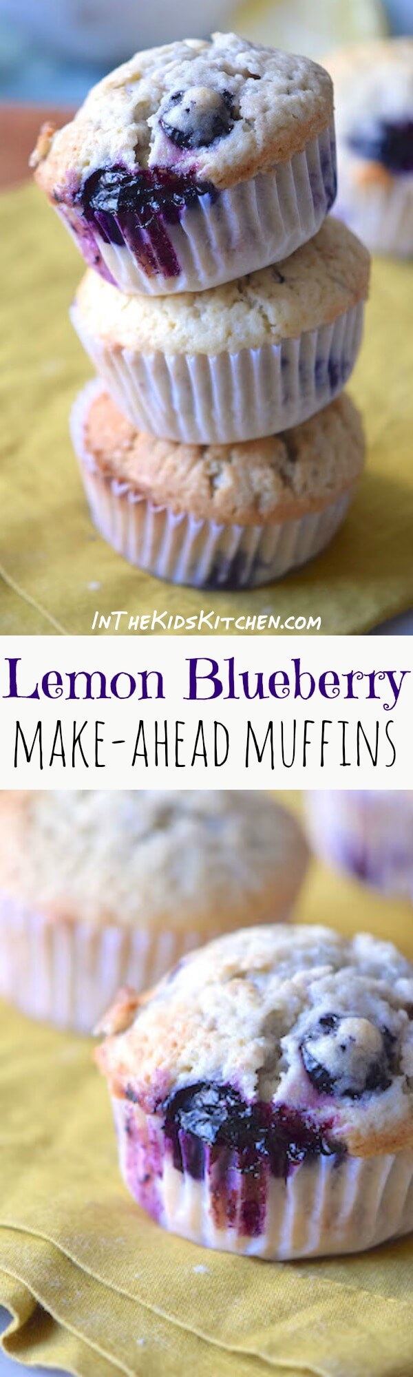Lemon Blueberry Muffins are bursting with fresh blueberries and a hint of zesty citrus. Perfect to make-ahead and freeze for an easy breakfast or dessert!