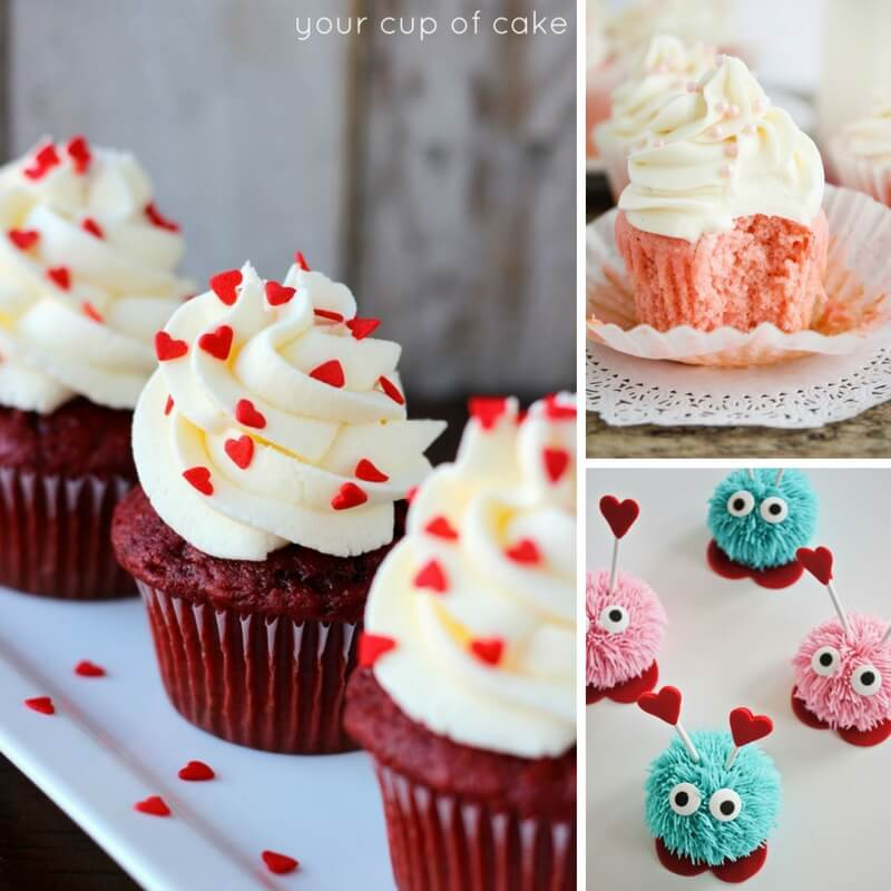 20 fun and delicious cupcake recipes for Valentine's Day