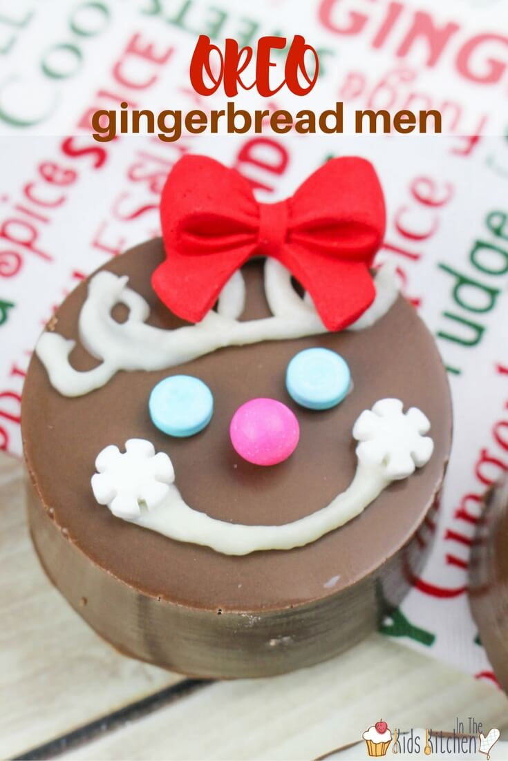 a delicious and easy christmas cookie kids can make these oreo gingerbread men are perfect - Easy Christmas Cookies For Kids