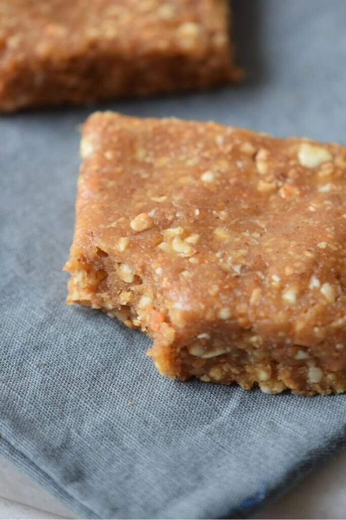 Curb hunger and fuel up on healthy energy with this delicious Homemade Protein Bar recipe. You'll LOVE this easy snack: no-bake and only 3 ingredients!