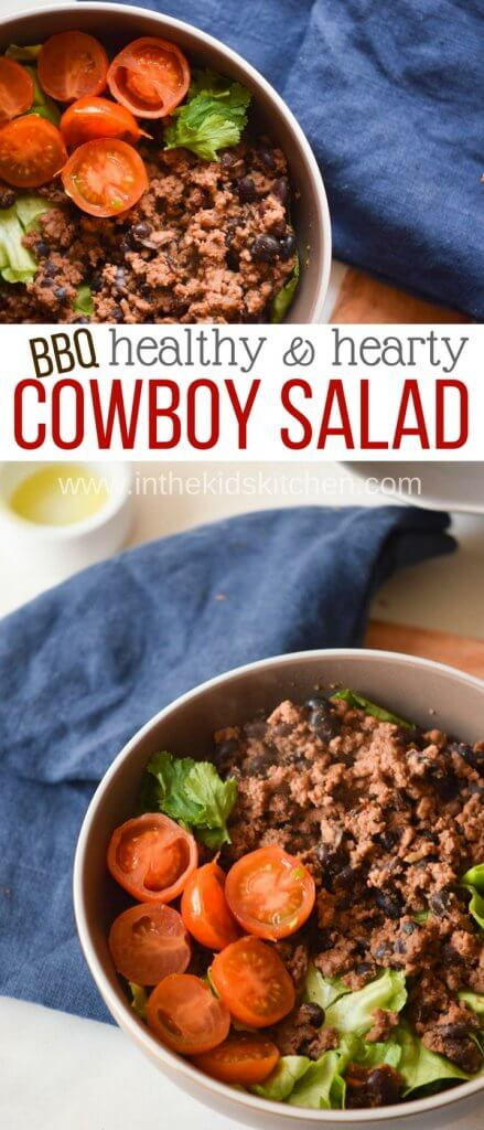 """A healthy taco salad that tastes even better than the """"real"""" thing! Protein packed and super satisfying - plus it's gluten free!"""