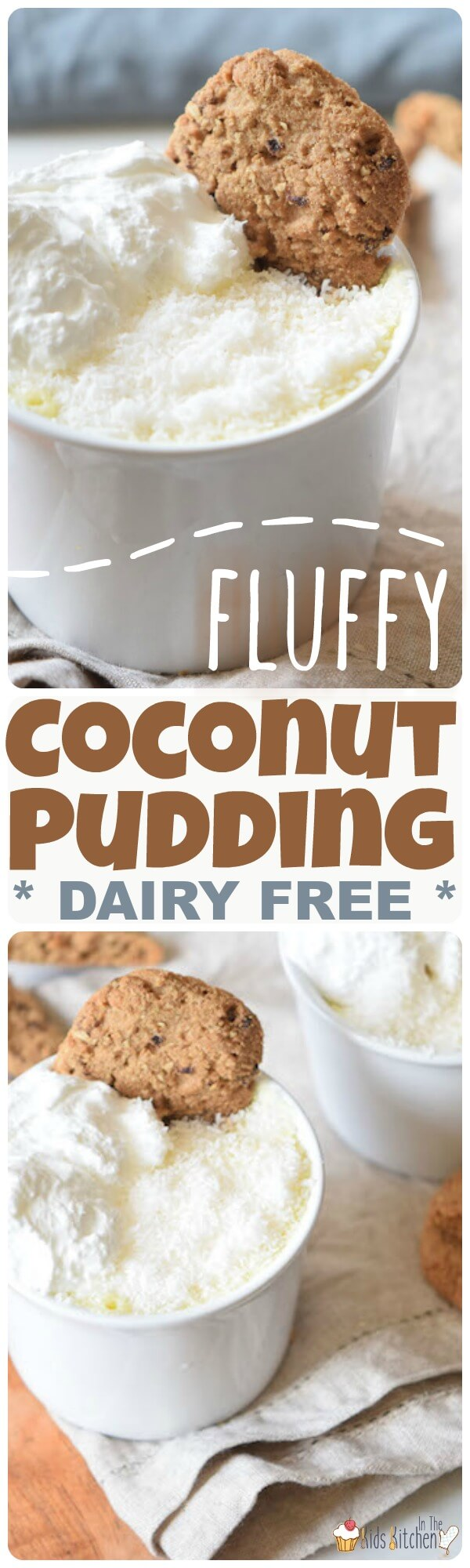 Made with simple ingredients, this Dairy Free Coconut Pudding is a deliciously fluffy and healthy alternative to dairy desserts!