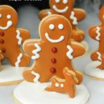 Standing Gingerbread Men Sugar Cookies