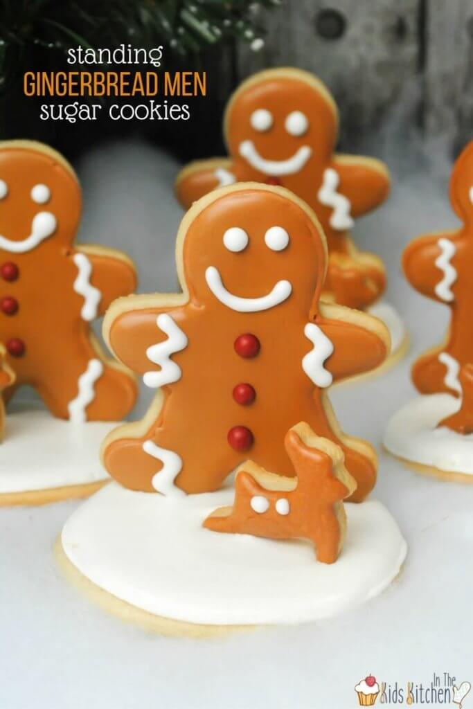 Standing Gingerbread Men Sugar cookies are a super cute and unique Christmas treat to make this holiday season