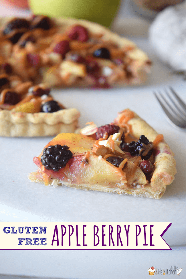 ... -Free Apple Berry Pie is made with fresh fruit and a touch of honey