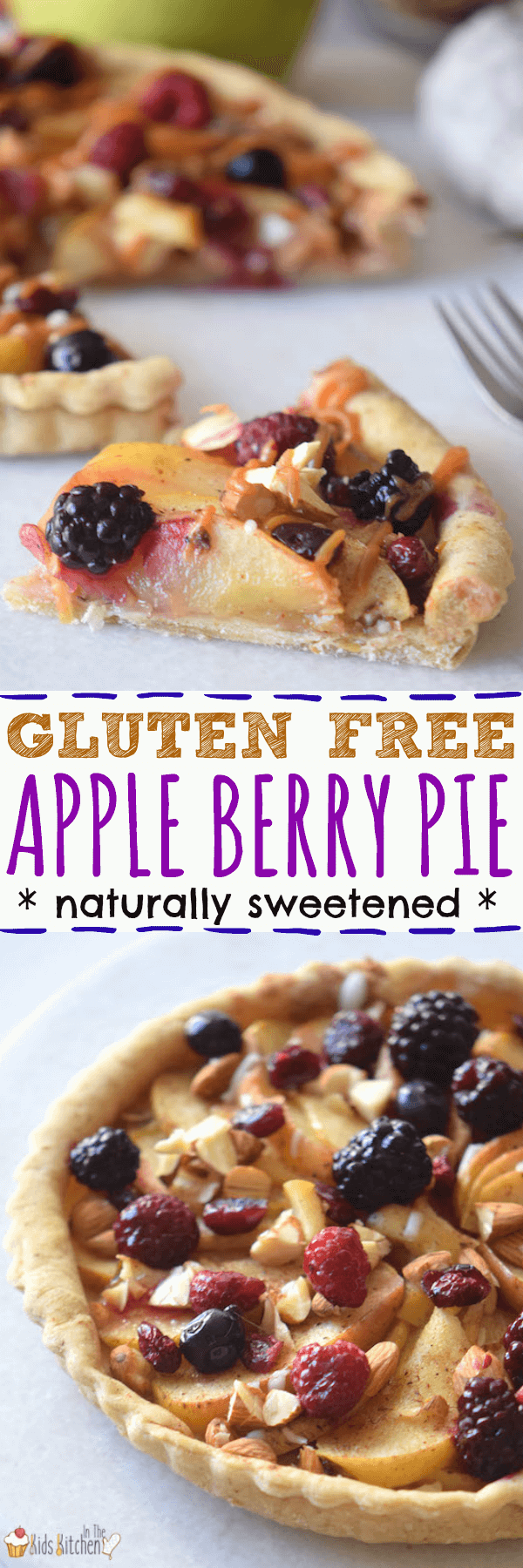Satisfy your apple pie cravings...without all the refined flour and sugar! This Gluten-Free Apple Berry Pie is made with fresh fruit and a touch of honey.
