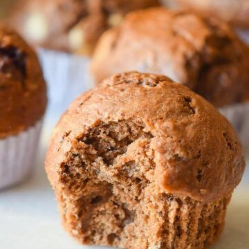 Greek Yogurt Chocolate Muffins