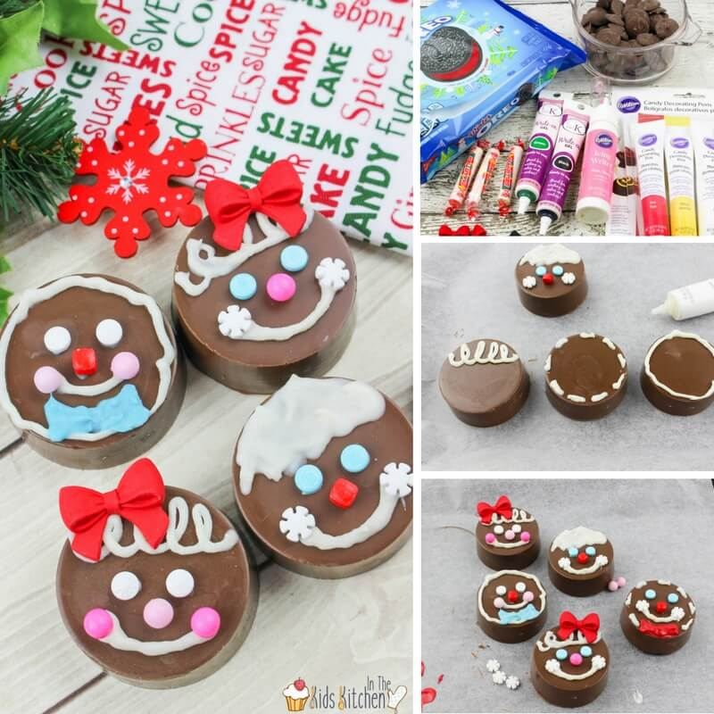 How to make OREO Gingerbread Men and Women with kids, a delicious alternative for those who don't like the strong flavor of gingerbread but still want to decorate