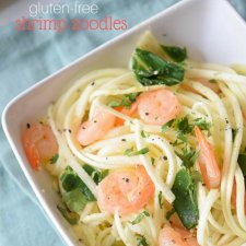 Paleo Shrimp Zoodles (Zucchini Noodles)