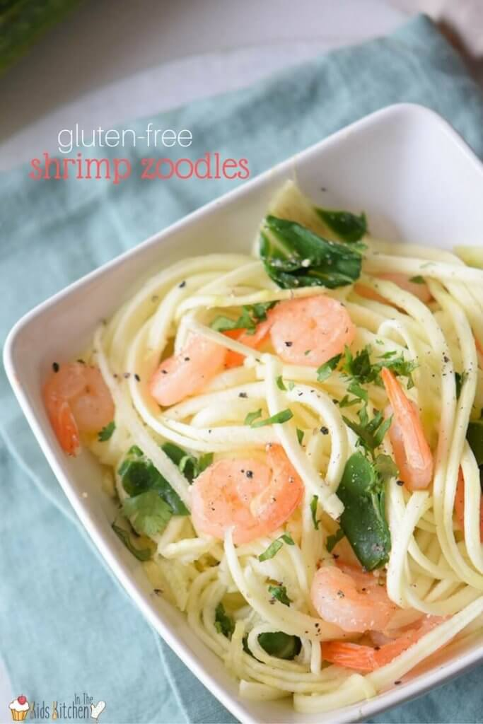 Forget what you know about healthy food! This Paleo Shrimp Zoodles recipe is bursting with flavor and takes about the same amount of time as regular pasta!