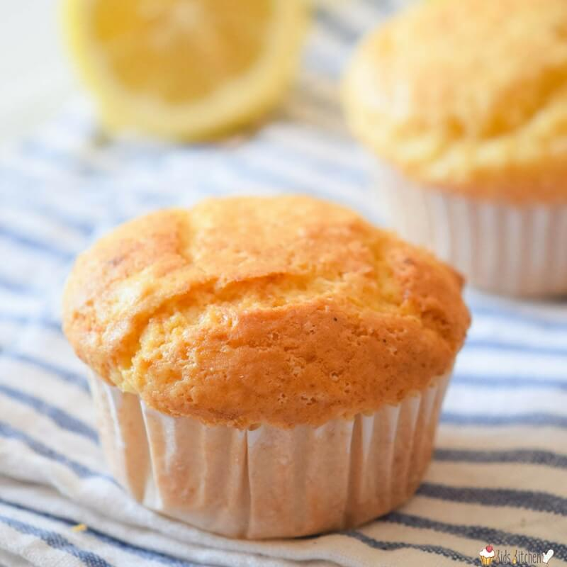 These Sugar Free Lemon Muffins will be your new favorite dessert or breakfast! Moist & fluffy, sweetened only with a touch of honey (no refined sugar).