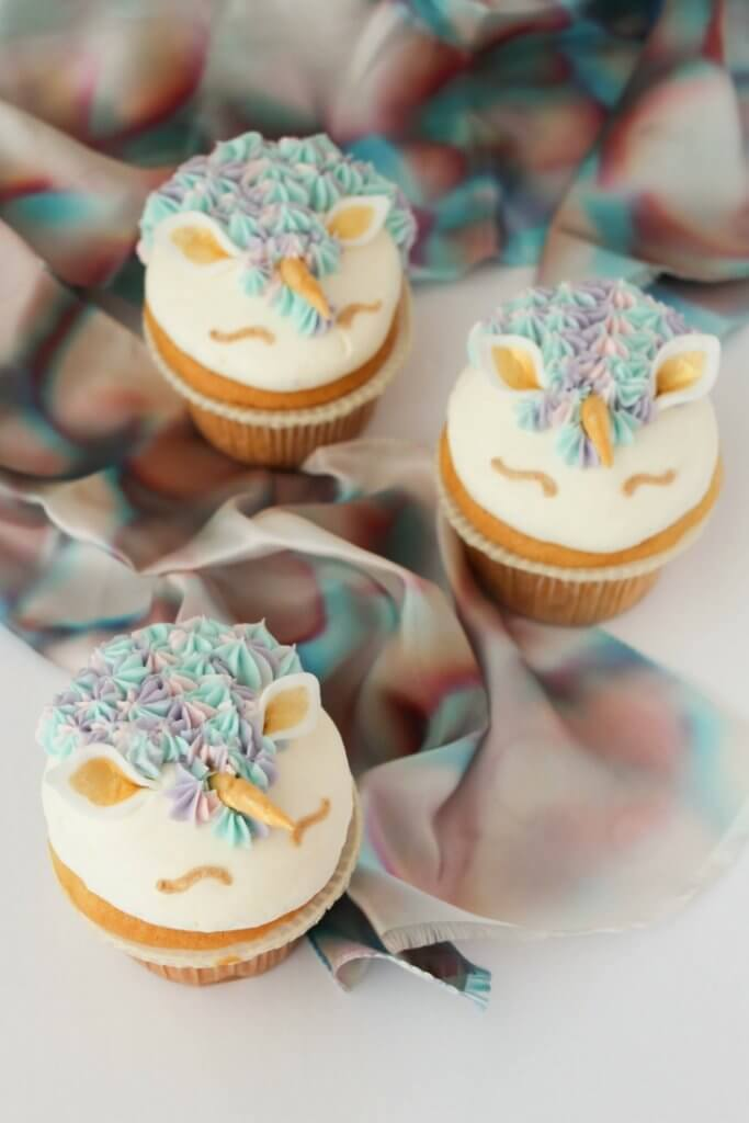 Pastel Amp Gold Unicorn Cupcakes In The Kids Kitchen