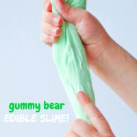 Edible Gummy Bear Slime (Only 3 Ingredients!)