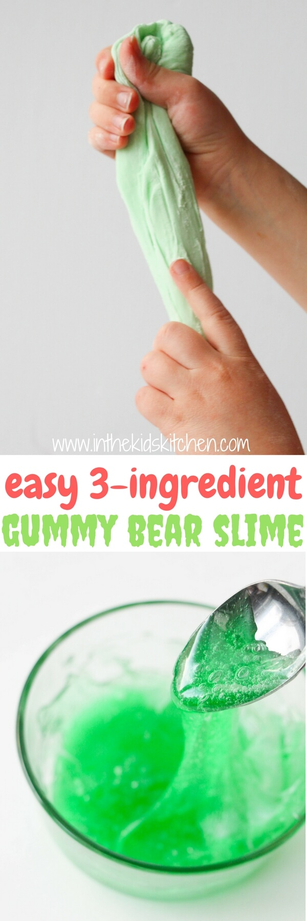Edible Gummy Bear Slime (Only 3 Ingredients!) - In the Kids