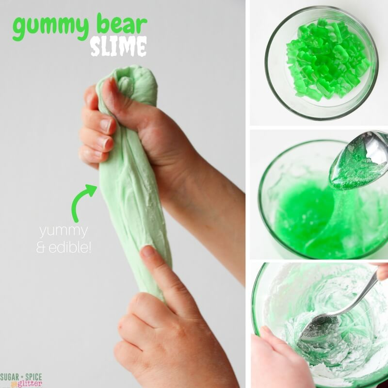 Edible slime made from gummy bears in the kids kitchen check out our quick video on how to make this easy edible gummy bear slime and then scroll down below to grab our free printable recipe for the exact ccuart Images