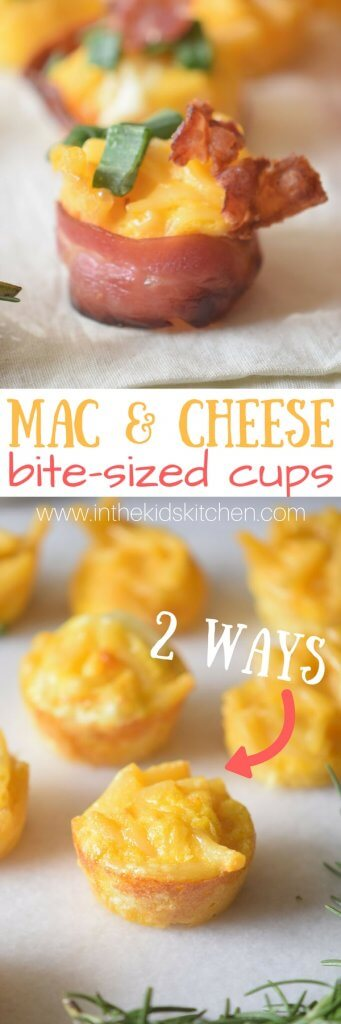 A delicious finger-food twist on a comfort food classic - you're going to love these Mac and Cheese Bites!! An easy party or game day appetizer.