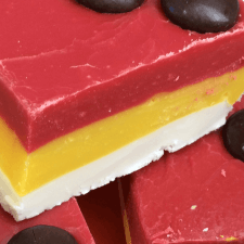 Mickey Mouse Party Layered Fudge