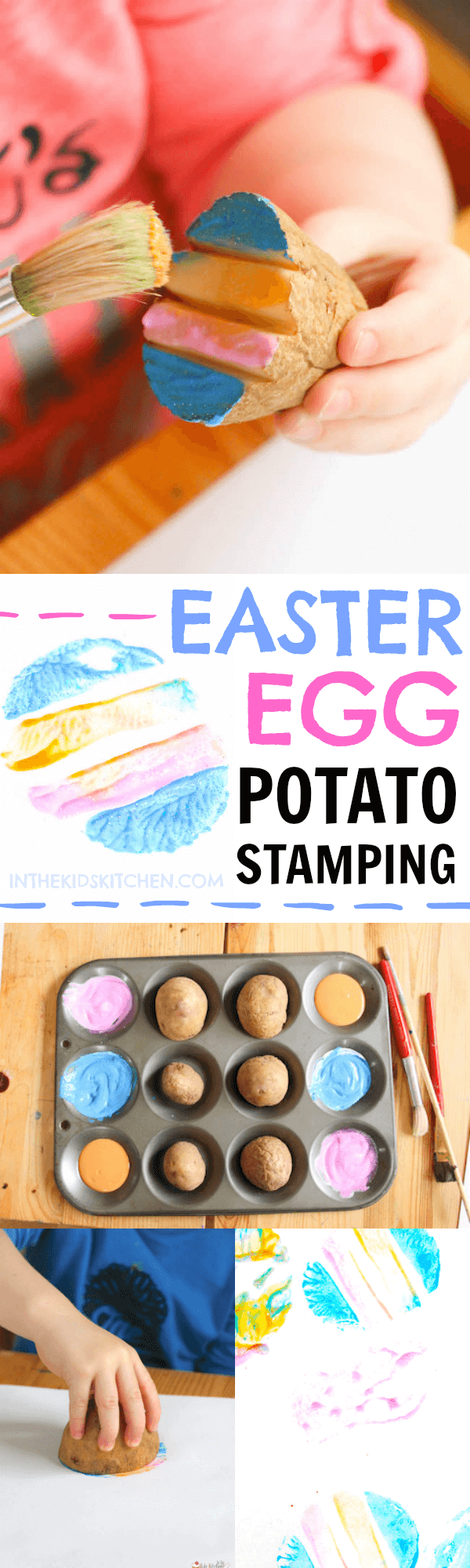 Create vibrant holiday decorations with this easy Easter Egg Potato Stamping kids craft! Free printable template included for foolproof designs.