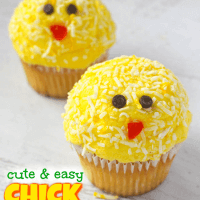 Baby Chick Cupcakes – The Easiest Easter Dessert!