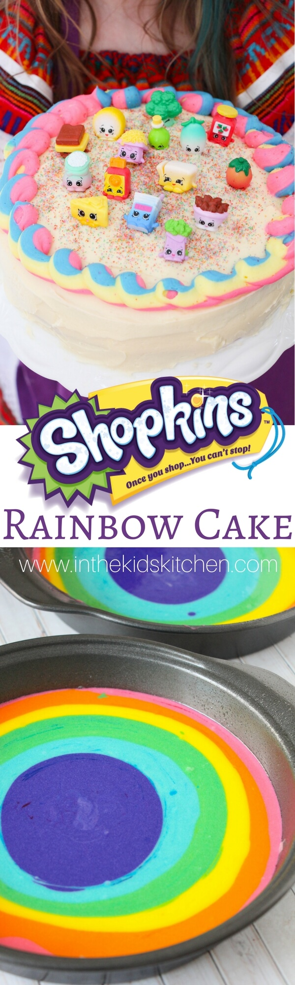Pin This Cute Easy Rainbow Shopkins Cake