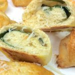 Quick Cheesy Spinach Croissants