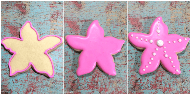 Gorgeous Starfish Cookies are perfect for a Little Mermaid movie night! A festive homemade sugar cookie recipe for a summer pool party or kids birthday!