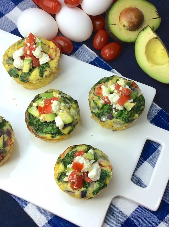 "High protein for lasting energy - Avoid the mid-morning ""crash"" with these delicious veggie egg cups breakfast recipe!"