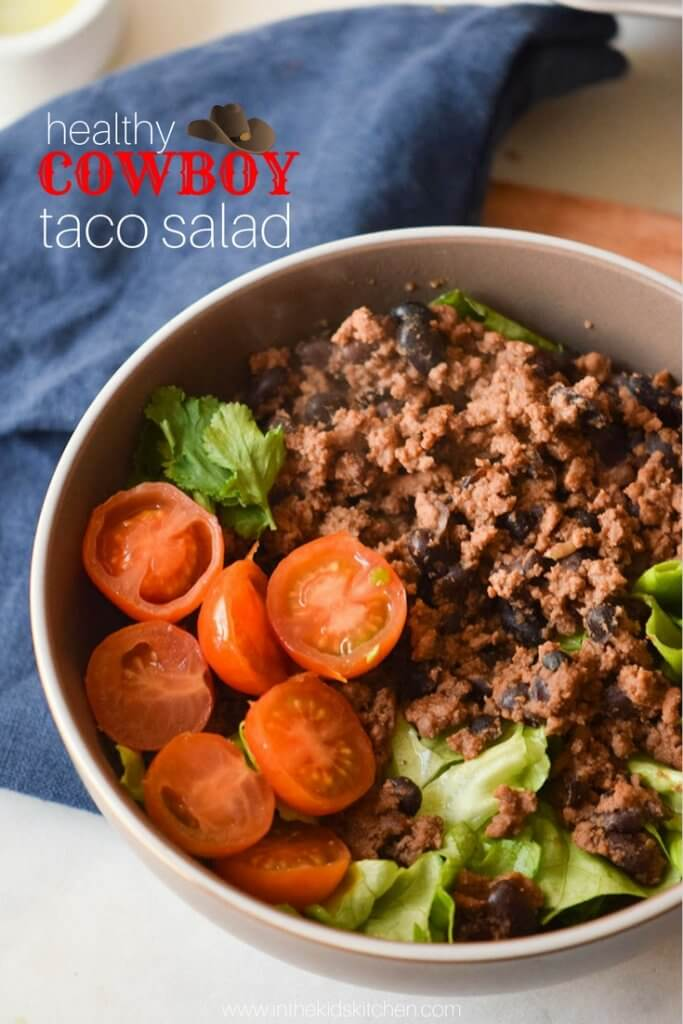 """A healthy taco salad that tastes even better than the """"real"""" thing! Protein packed and super satisfying - gluten free."""
