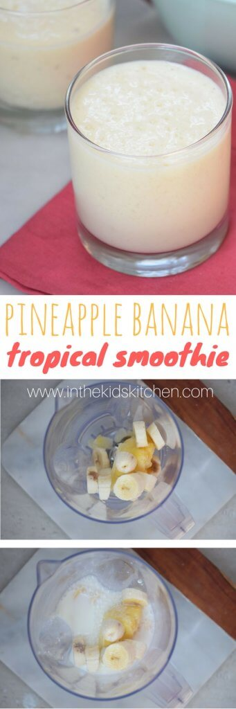 3 Ingredient Healthy Pineapple Banana Smoothie Recipe