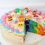 Rainbow Shopkins Cake Recipe