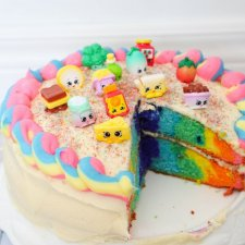 Rainbow Shopkins Cake Recipe