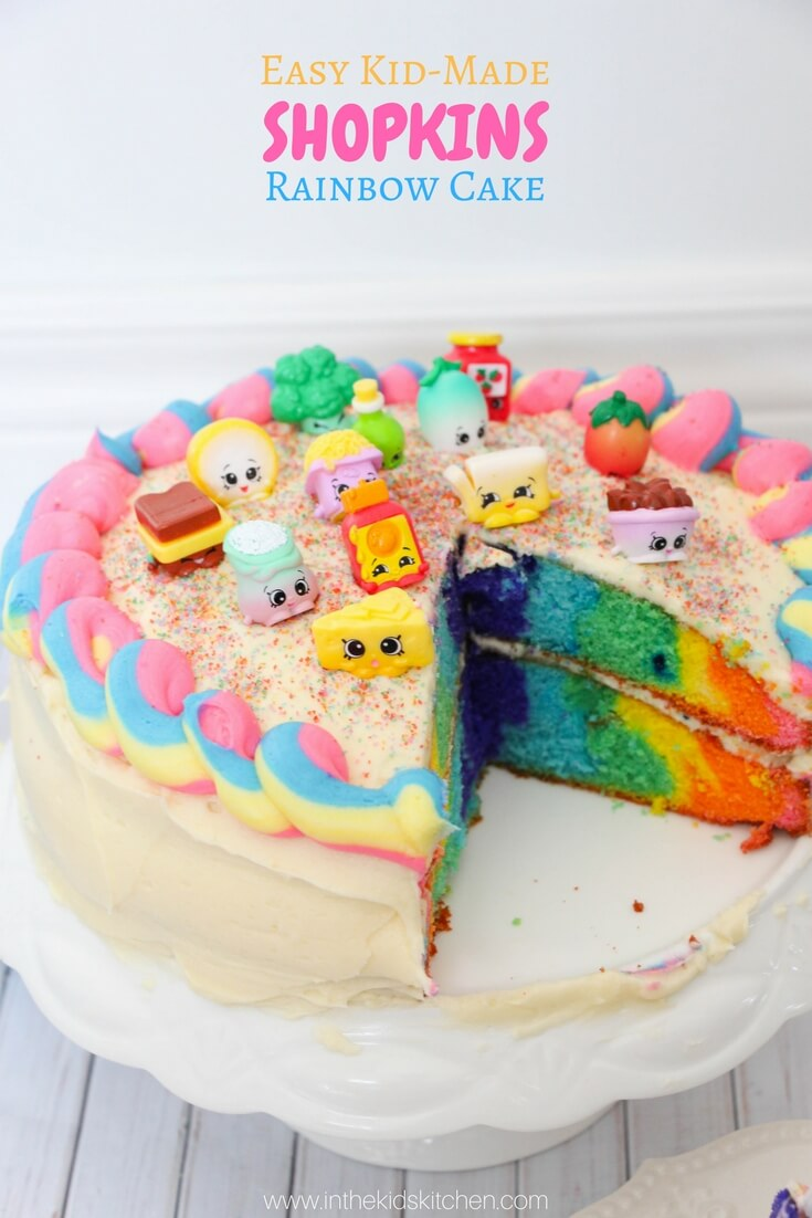 Enjoyable Rainbow Shopkins Cake Recipe In The Kids Kitchen Birthday Cards Printable Opercafe Filternl