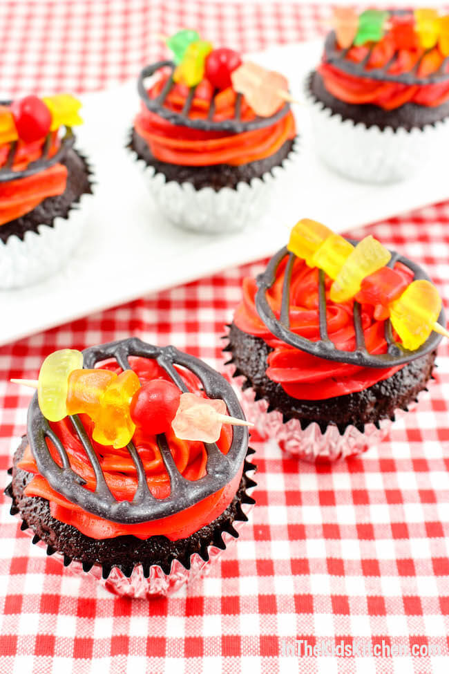 Summer Grill Cupcakes In The Kids Kitchen
