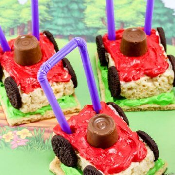 Lawn Mower Rice Krispie Treats