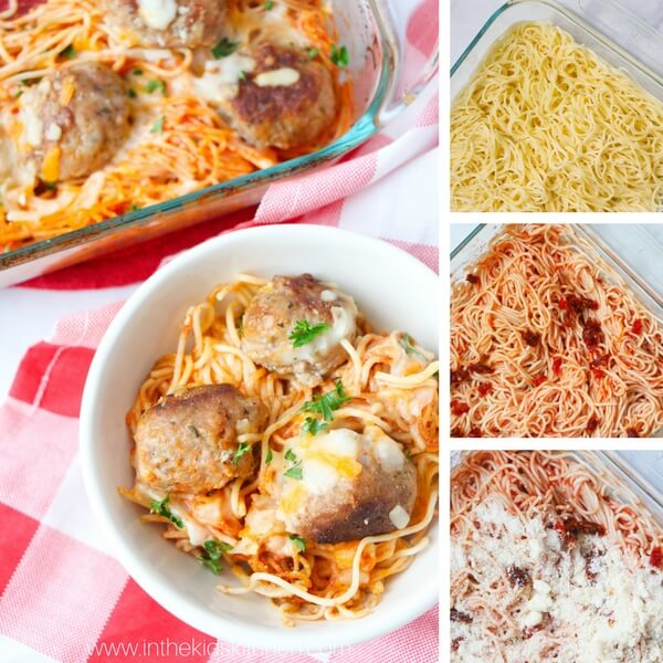 How to make baked spaghetti step by step collage